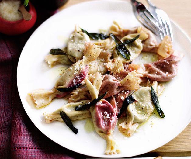 "**[Anna Maria Eoclidi's tortelli caramelle](https://www.gourmettraveller.com.au/recipes/chefs-recipes/tortelli-caramelle-7271|target=""_blank""|rel=""nofollow"")**"