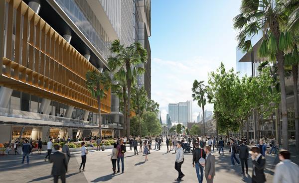 A render of the Parramatta Square precinct.