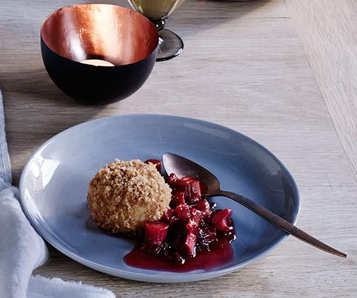 "**[Brigitte Hafner's rhubarb dumplings](https://www.gourmettraveller.com.au/recipes/browse-all/rhubarb-dumplings-12332|target=""_blank""|rel=""nofollow"")**"