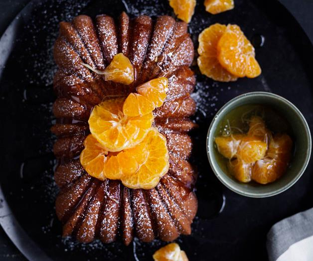 """**[Mandarin and ginger syrup cake](https://www.gourmettraveller.com.au/recipes/browse-all/manadrain-and-ginger-syrup-cake-12811