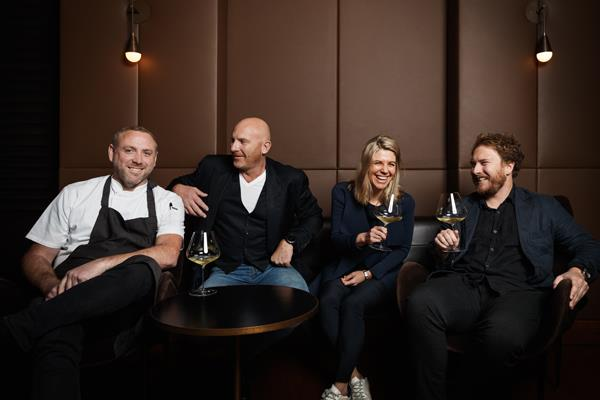 Aria executive chef Joel Bickford, co-owners Matt Moran and Anna Solomon, and head sommelier Alex Kirkwood.