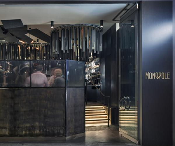 The entrance to Monopole on Macleay Street, Potts Point.