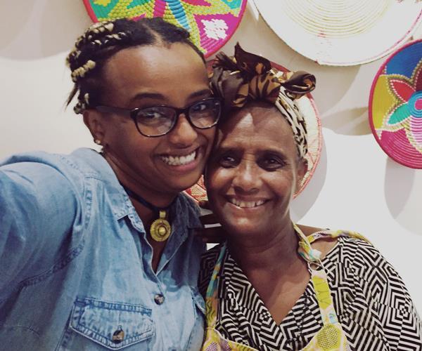 Saba Alemayoh (from left) and Tekebash Gebre.