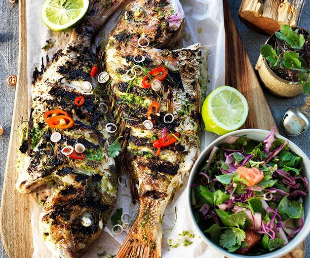 "**[Three Blue Ducks' red cabbage, jicama and citrus salad](https://www.gourmettraveller.com.au/recipes/chefs-recipes/red-cabbage-jicama-and-citrus-8402|target=""_blank"")**"