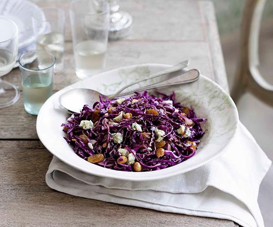 """**[Divido's red cabbage and hazelnut salad](https://www.gourmettraveller.com.au/recipes/chefs-recipes/red-cabbage-and-hazelnut-salad-8986
