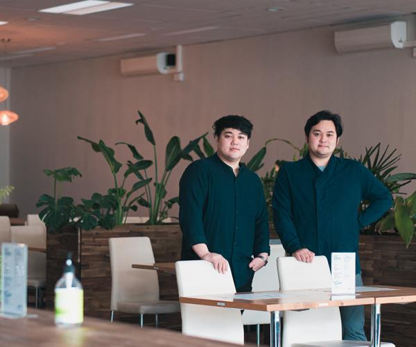Brothers William and James Pham co-own Brother Bon, a vegan Vietnamese restaurant in Northcote, with their mother Long Nguyen.
