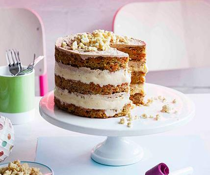 "[**Christina Tosi's carrot layer cake**](https://www.gourmettraveller.com.au/recipes/browse-all/carrot-layer-cake-11200|target=""_blank"")"