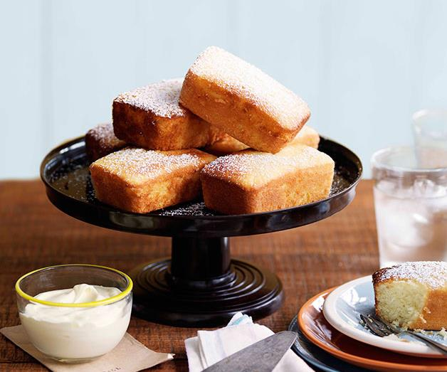 "**[Meyer lemon and olive oil cakes](https://www.gourmettraveller.com.au/recipes/chefs-recipes/meyer-lemon-and-olive-oil-cakes-9017|target=""_blank"")**"