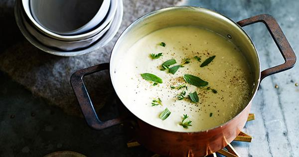 Cauliflower Soup Recipe With Cheddar Toast Gourmet Traveller
