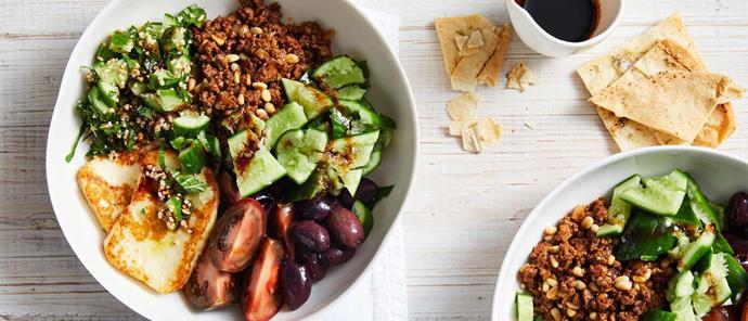 "**[Qukes Souvlaki bowl](https://www.perfection.com.au/recipe/qukes-souvlaki-bowl/|target=""_blank""|rel=""nofollow"")**"