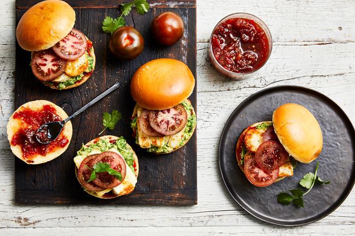"**[Kumato breakfast burger](https://www.perfection.com.au/recipe/kumato-tomato-breakfast-burger/|target=""_blank""|rel=""nofollow"")**"