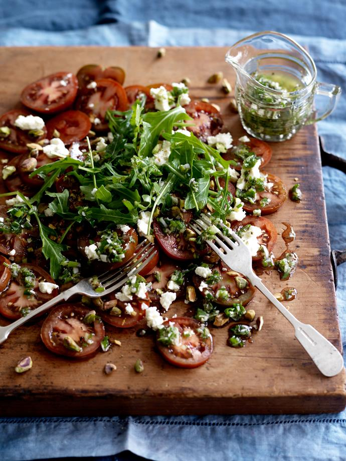 "**[Kumato and feta salad](https://www.perfection.com.au/recipe/kumatoand-feta-salad/|target=""_blank""|rel=""nofollow"")**"