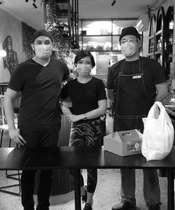 Chibog's Janine Barican (middle) with husband and co-owner Thuan Le (left) and head chef and co-owner Alex Yin.