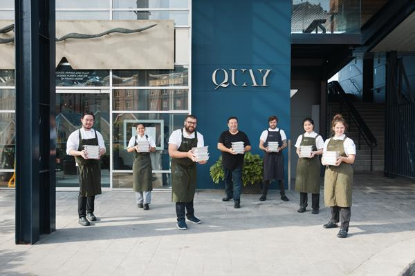Harvest Bites' chef ambassador Peter Gilmore and his team at Quay.