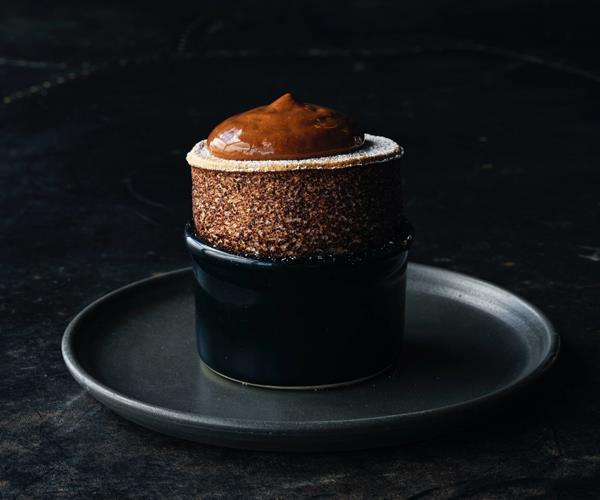 Vue to You's chocolate soufflé.