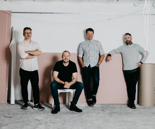 Fabbrica co-owners (from left) Nathanial Hatwell, Cam Birt, Scott McComas-Williams and Matthew Swieboda.