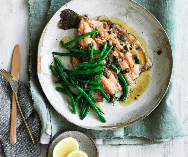 """**[Trout with brown butter, capers and garlic](https://www.gourmettraveller.com.au/recipes/browse-all/trout-with-brown-butter-capers-and-garlic-12815