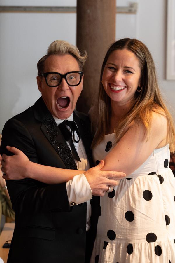 Mitch Edwards with chef Emma McCaskill (Chefs on Wheels, Adelaide).