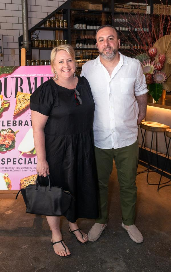 Kristy Frawley and Michael Rantissi, co-owners of Sydney's Kepos Street Kitchen.