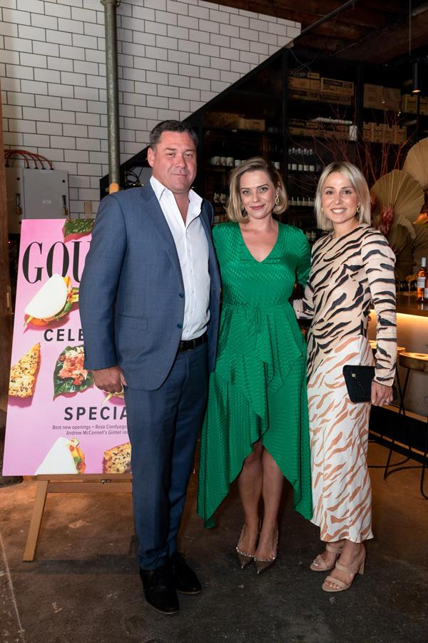 Are Media CEO Brendon Hill with Joanna Hunkin and Sally Eagle (General Manager Publishing: Food).