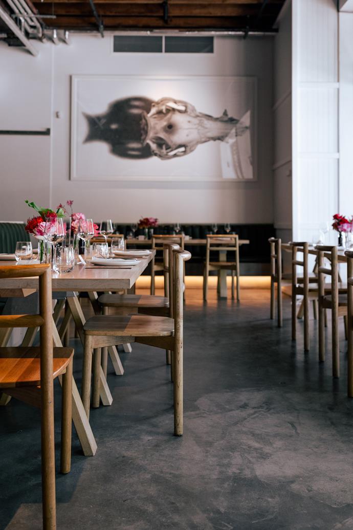 The dining room at Sydney's Nomad restaurant.