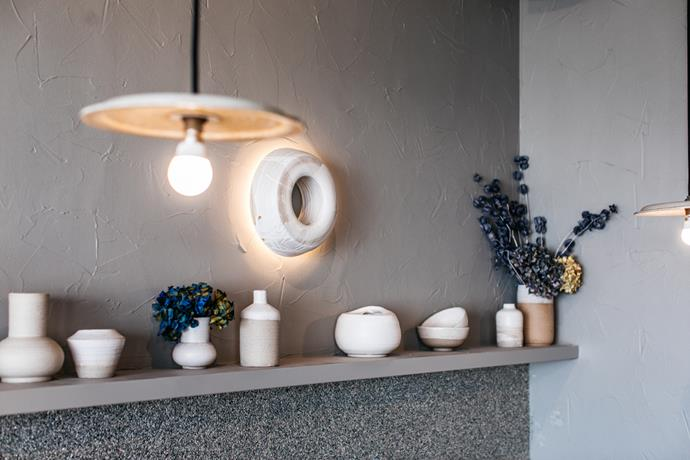 Ceramics at Porch & Parlour in North Bondi, Sydney.