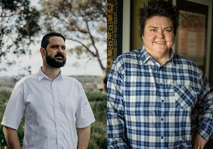 Seth James, Executive Chef at Wills Domain; Melissa Palinkas, Executive Chef at Ethos Deli + Dining Room and Young George
