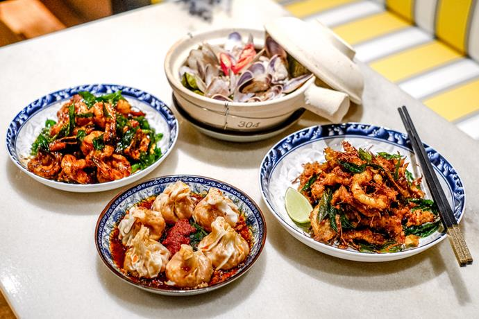 Dishes at Ho Jiak Town Hall.
