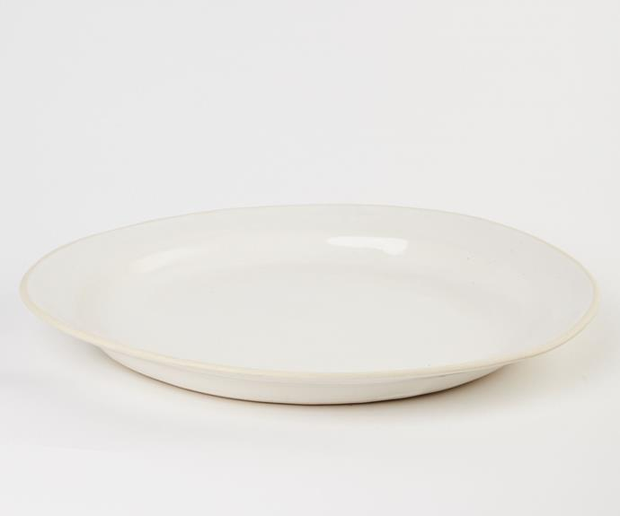 """**Wonki Ware Mediterranean platter, $190.50, available from [Clo Studios](https://clostudios.com.au/collections/home-decor/products/mediterranean-platter