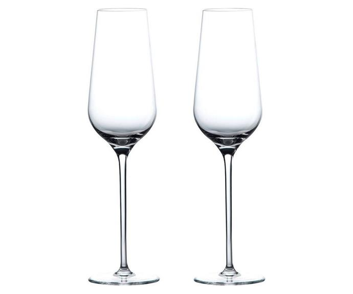 """**Globe Champagne Flute, set of 2 from Wedgwood, $119, available from [Myer](https://www.myer.com.au/p/wedgwood-globe-champagne-flute-set-of-2