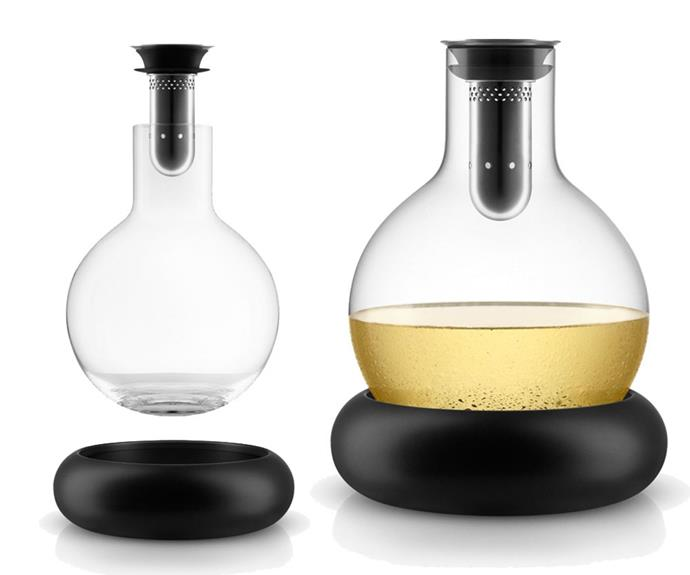 "**Cool wine decanter, $185, Eva Solo, available from [Peter's of Kensington](https://www.petersofkensington.com.au/Public/Eva-Solo-Cool-Wine-Decanter-750ml.aspx|target=""_blank""