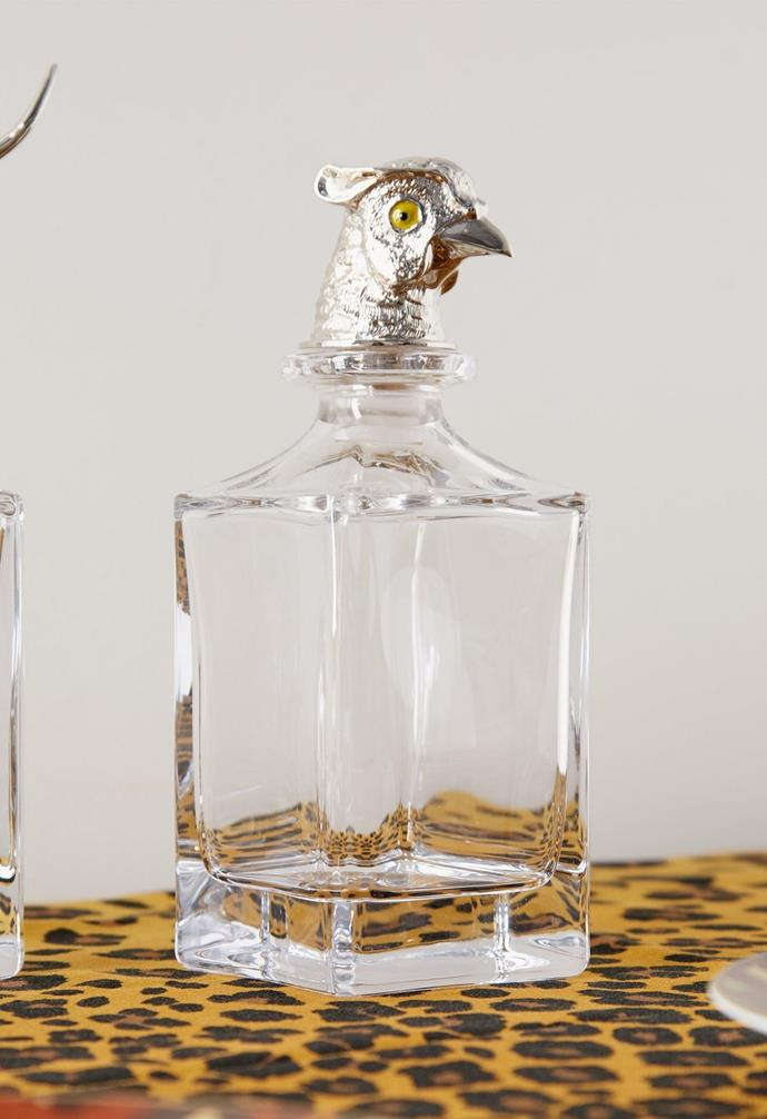 "**Pheasant-head crystal decanter, $925, Deakin & Francis, available from [Matches Fashion](https://www.matchesfashion.com/au/products/Deakin-%26-Francis-Pheasant-head-crystal-decanter-1404735|target=""_blank""