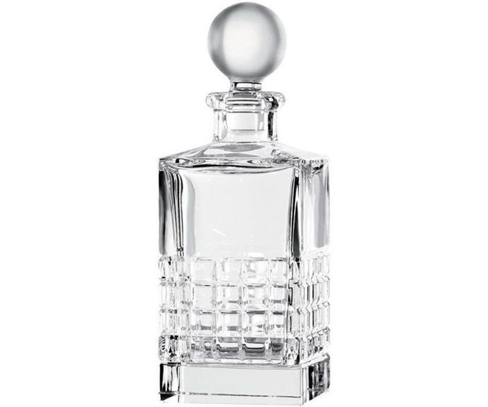 "**London Collection square decanter, $599, Waterford, available from [Myer](https://www.myer.com.au/p/london-collection-square-decanter-769ml-502564150|target=""_blank""