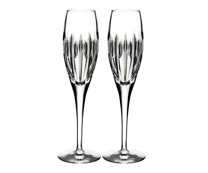 """**Ardan Mara flute pair, $139, from [Waterford](https://www.waterfordcrystal.com.au/ardan-mara-flute-pair.html
