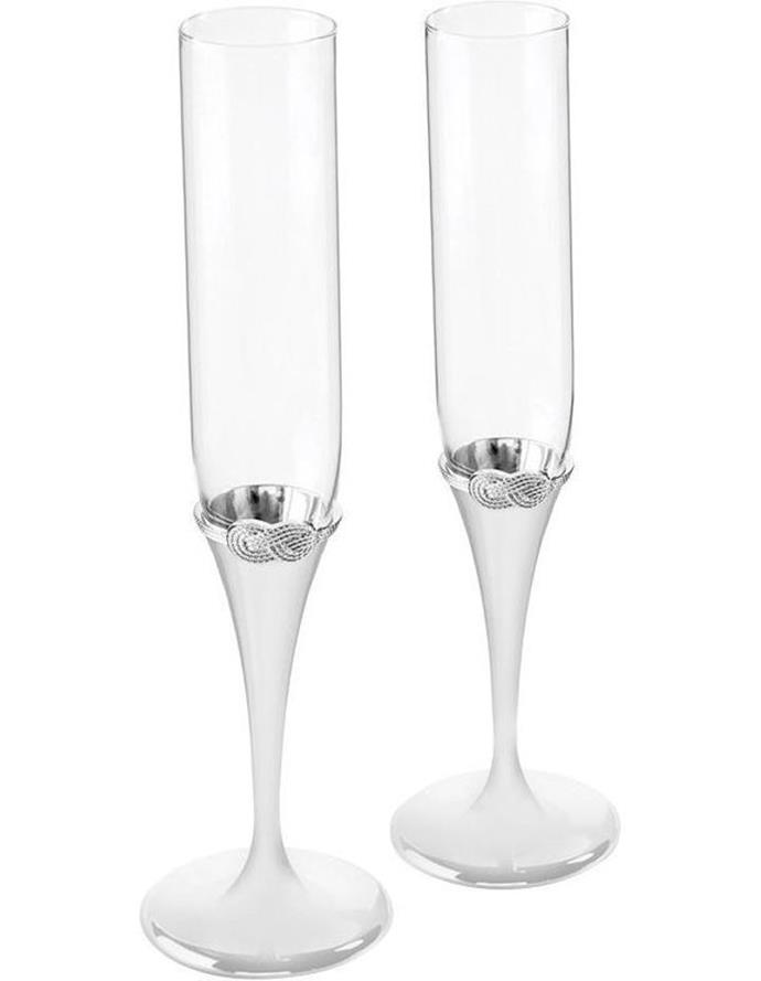"""**Vera Wang Infinity Toasting Flute Pair, $129, from [Wedgwood](https://www.wedgwood.com.au/vera-wang-infinity-toasting-flute-pair.html