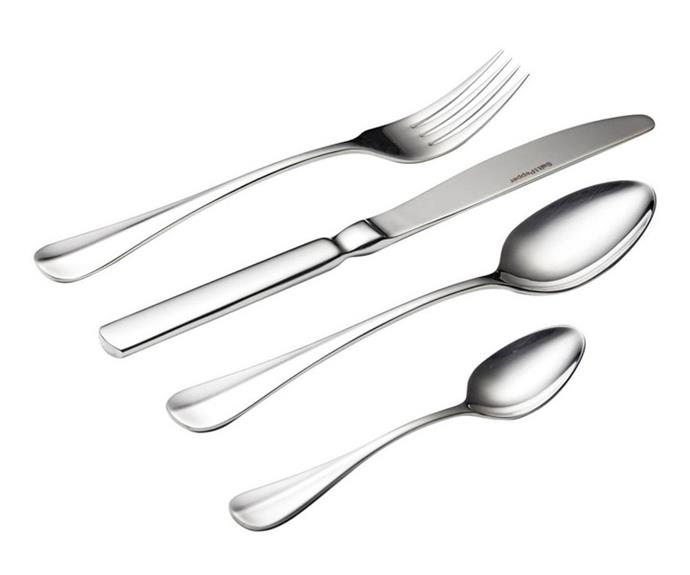 "**Zurich cutlery set 16pc from Salt & Pepper, $79.95, available from [Myer](https://www.myer.com.au/p/salt-pepper-zurich-cutlery-set-16-piece|target=""_blank""