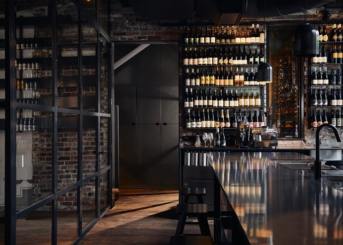 The wine bar at Agnes.