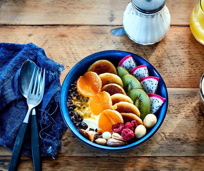 "[Petite pancake breakfast bowl](https://marcels.co.nz/Recipes/Petite-Pancakes-Breakfast-Bowl?utm_source=australia-womens-weekly&utm_medium=disp-banner&utm_campaign=marcels-recipes&utm_content=website|target=""_blank""|rel=""nofollow"") <br> *Photo: Supplied*"