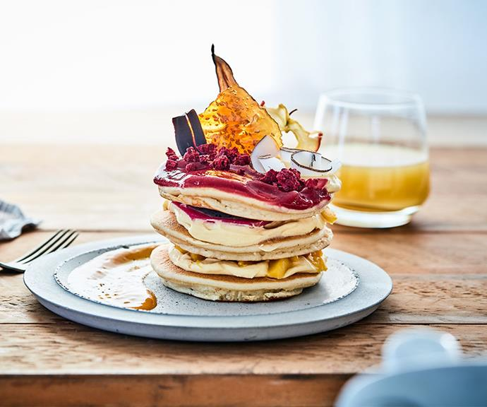 """[Berry and mango pancake stack](https://marcels.co.nz/Recipes/Berry-Mango-Pancake-Stack?utm_source=australia-womens-weekly&utm_medium=disp-banner&utm_campaign=marcels-recipes&utm_content=website