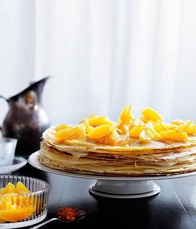 "[Crêpe cake with Suzette sauce](https://www.gourmettraveller.com.au/recipes/chefs-recipes/crepe-cake-with-suzette-sauce-7534|target=""_blank"") <br> *Photo: Ben Dearnley*"