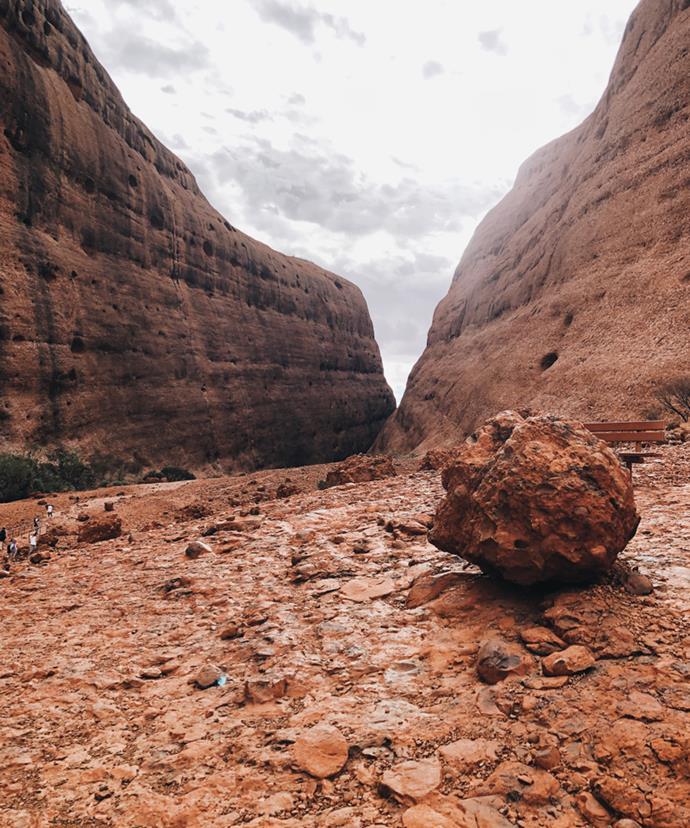 The Mars-like landscape of Kata Tjuṯa.