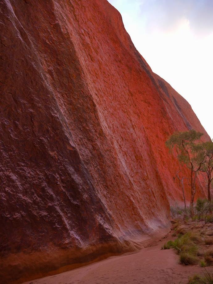 The glowing red rock of Uluṟu.