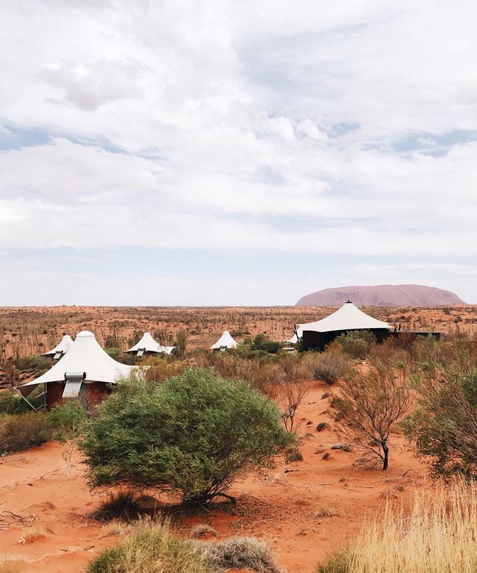 """Longitude's """"tent"""" accommodation."""