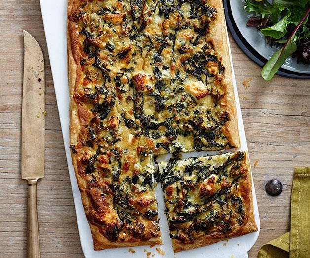"[**Leek, swiss chard and feta tart**](https://www.gourmettraveller.com.au/recipes/chefs-recipes/leek-swiss-chard-and-feta-tart-9184|target=""_blank"")"