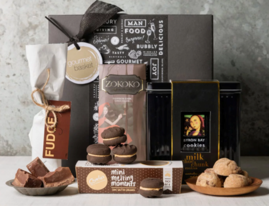"**Gourmet Basket Chocolate Box Hamper, $70, [gourmetbasket.com.au](https://fave.co/3pTAJIB|target=""_blank""