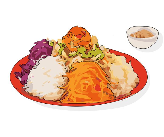Yusheng, also known as the prosperity toss salad.