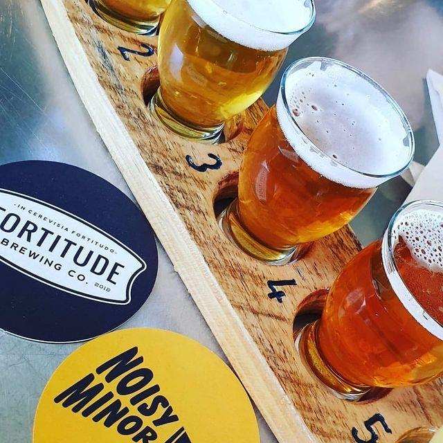 Fortitude Brewing Co. has six signature beers and its own offshoot label, Noisy Minor. Photo: @fortitudebrewing.