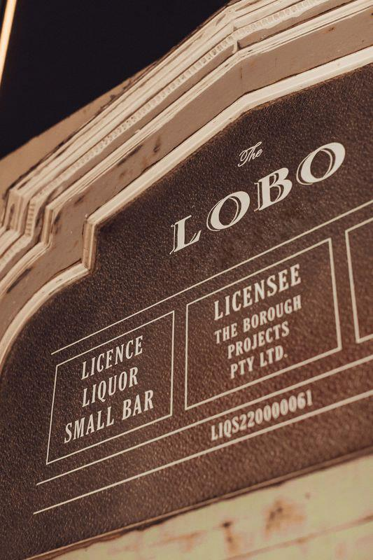 Signage at the entrance to The Lobo in Sydney.