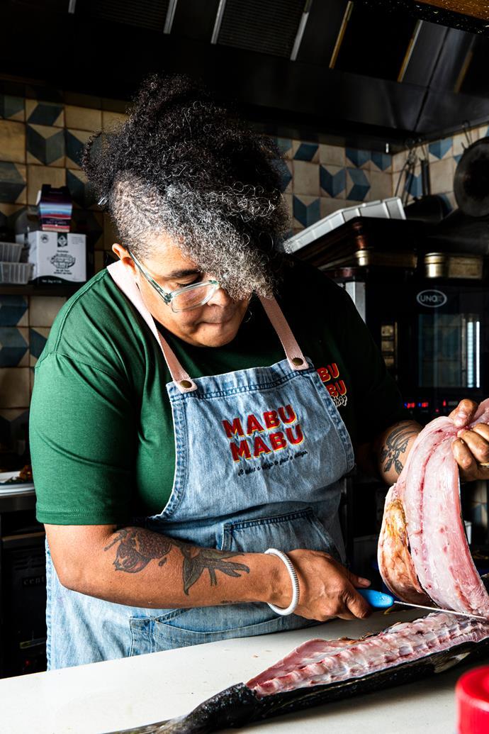 Nornie Bero, chef-owner of Melbourne's Mabu Mabu.