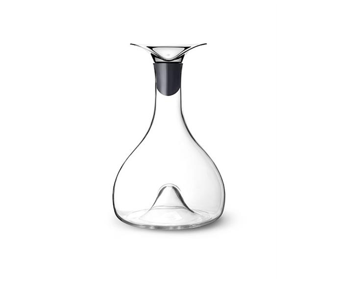 "**Wine & bar carafe, $220, Georg Jensen, available from [David Jones](https://www.davidjones.com/home-and-food/dining/glassware/decanters-and-carafes/20078298/Wine-Carafe.html|target=""_blank""
